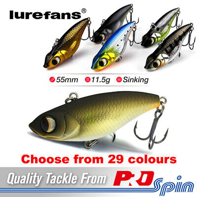 Lurefans V55 Big-Eye Viper VIB Vibe Fishing Lures - Hard Body Lipless Crankbaits