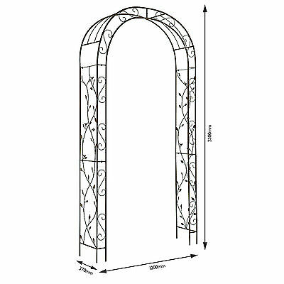 Garden Arch Nature  2.3m x 1.2m Gardman Metal Wedding  Arches Arbour