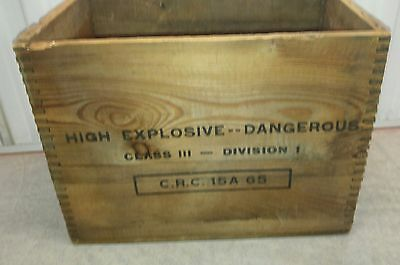 Forcite explosive dovetail crate