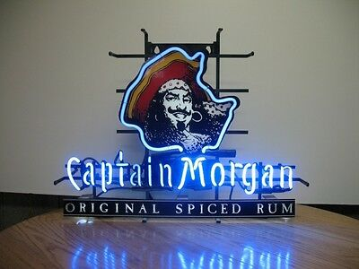 "New Captain Morgan Rum Pirate Neon Sign 17""x14"""