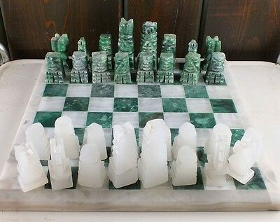 game set and table marble and wood