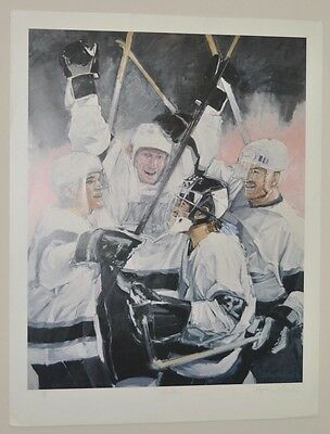 Wayne Gretzky LA Kings Lithograph c.1993 Signed / Numbered by Stephen Holland