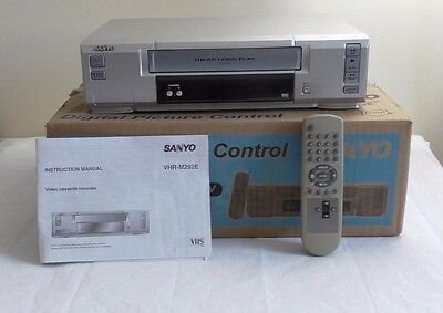 Sanyo VHR-M292E VHS video cassette player *BOXED With Remote* VCR Tape NTSC