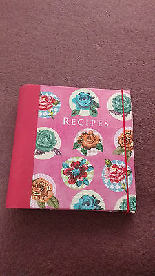 Floral Recipe Book/File- Paperchase