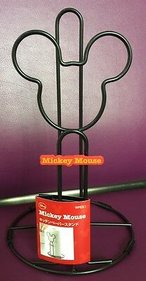 Disney mickey mouse  SKATER kitchen paper stand so cute Black JAPAN