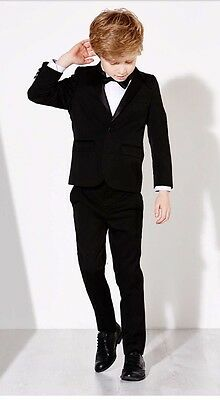 John Lewis Heirloom Collection Boys' Tuxedo Suit Trousers, Black Age 4