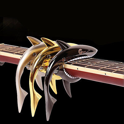 Quick Change Guitar Clamp Funny Shark Shape Zinc Alloy Guitar Jaw Capo ClampUK
