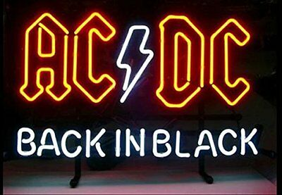 "New ACDC Back In Black Neon Sign 17""x14"""