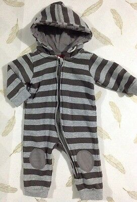 Sprout Baby Boys Hooded Romper Size 00