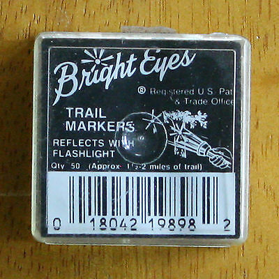 BRIGHT EYES Trail Markers Reflective 50 Pack New Old-Stock NOS FREE SHIPPING