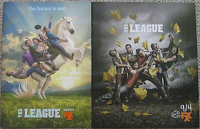 2 THE LEAGUE FXX SEASON 5 + 6 PROMOTIONAL PRINT PRESS KIT BOOKs MARK DUPLASS