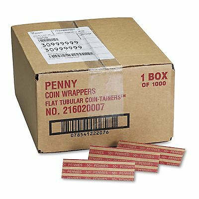 Coin-Trainer Company Pop-Open Flat Paper Coin Wrappers - Pennies - 1,000 ct.