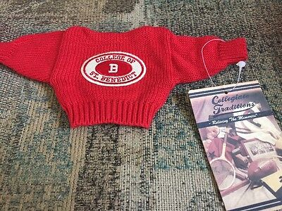 College Of St Benedict Sweater Mini Size Shadowbox Memory Book Scrapbook Dolls