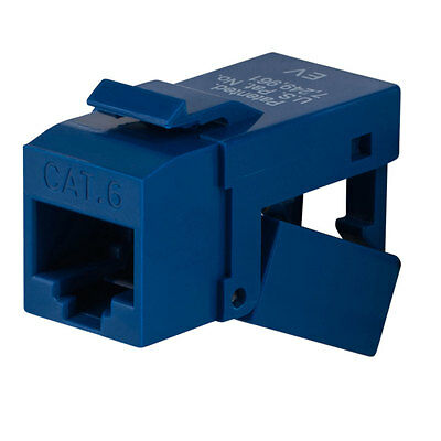 Platinum Tools 706BL-1 Cat 6 EZ-SnapJack Keystone - Blue - Each