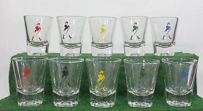 Set Of 5 Johnnie Walker Shot Glass  Scotch Whisky Keep Walking Collectibles Gift