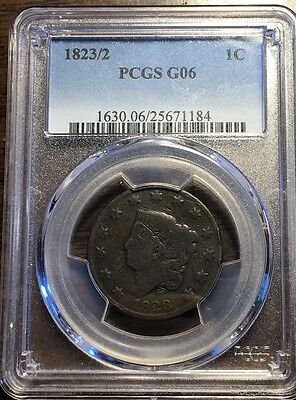 1823/2 Coronet Head Large Cent PCGS G 06