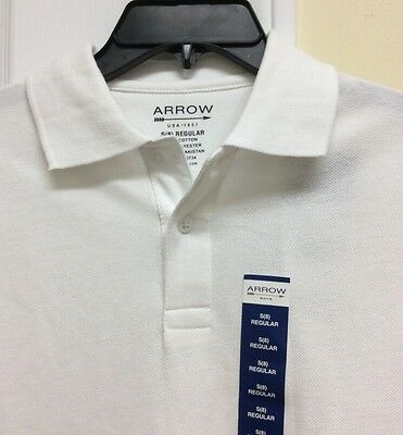 NEW Arrow Boys Approved Schoolwear Easy Care Polo Shirt Sz Small (8) White