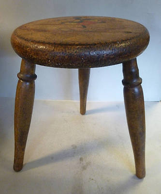 Extremely Rare circa 1930's American Maple Walt Disney Mickey Mouse Stool