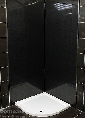 Black Nimbus or Black Marble Shower Panels Wetwall Showerwall 1 Metre Wide 10mm