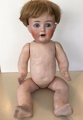 Antique Goebel 19 Inch Toddler Doll B5 11 Germany Blue Eyes