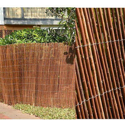 Willow Screening Roll Garden Screen Fencing Fence Panel Wooden 4m long 3 sizes