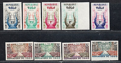 **Togo, SC# 350-4, 360-3 (Imperf) MNH VF Partial Set, Crease 363 NVOF