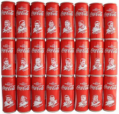 24 Coca-Cola Dosen Cans EURO 2016 Team Germany Full Complete Set Limited Edition
