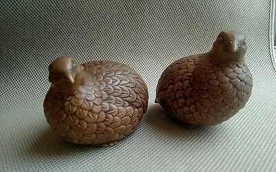 antique Vintage Norcrest Japan Pair of Quail #A610 Very Beautiful Condition bird