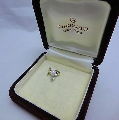 Vintage! Rare Mikimoto Akoya Pearl Tie Tack Lapel Pin Golf club 18K Father's Day