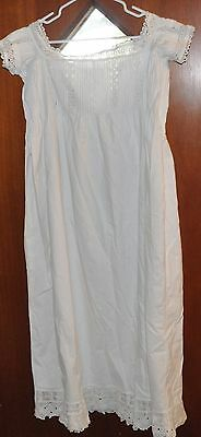 Antique Edwardian Ivory Lacy Nightgown  Size small or medium