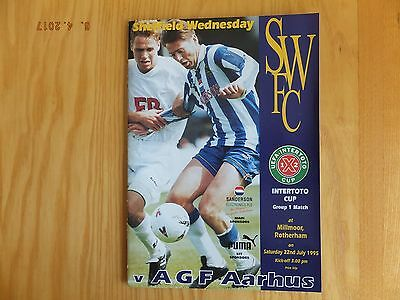 Sheffield Wednesday v Aarhus - Inter Toto Cup @ Rotherham - 22nd Jul 1995