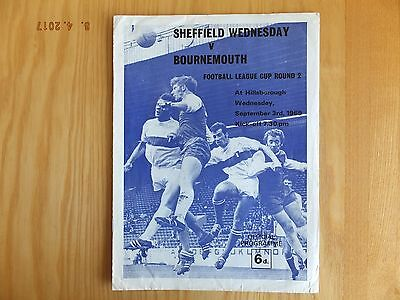 Sheffield Wednesday v Bournemouth- League Cup - 3rd Sep 1969