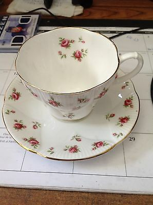 Royal Albert Winsome Tea Cup Saucer Bone China England Small Chintz Roses