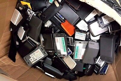 20LB Lot of Cell Phone Batteries 20 Pounds Scrap for Gold Recovery AS IS