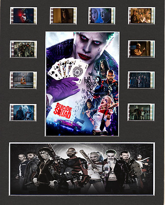 Suicide Squad replica Film Cell Presentation 10 x 8 Mounted 10 cells