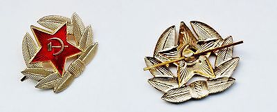 Cockade Soviet Military Russian Army USSR Red Star Hat Pin Badge