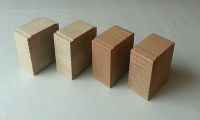 LC Thomas Wooden Railway Lot Block Train Track Piece Risers 4 Ascending Tracks
