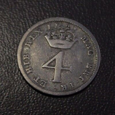 Great Britain 1727 FourPence Silver, 1727 4d very nice grade