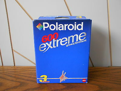 POLAROID EXTREME 600 sealed film pack of 3 EXPIRY DATE 01/2003 for 30 photos
