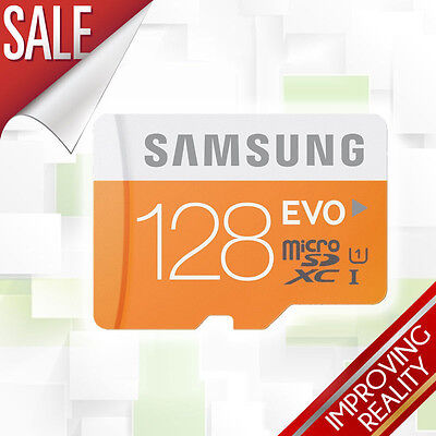 Samsung 128GB EVO MicroSDXC Memory Card + Adapter UK SELLER