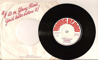 Indian Reservation by Don Fardon 7 inch 45RPM single 1970 *EX*