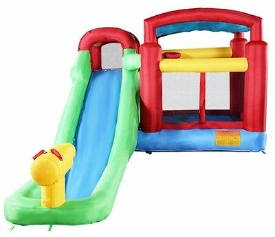 Costway Inflatable Moonwalk Water Slide Pool Bounce House Jumper Bouncer Castle
