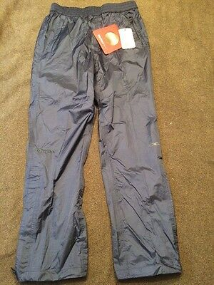 NWT MARMOT NanoPro PreCip  Waterproof Rain Pants Tempest Blue Size-medium