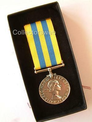 Korea War 1950 Medal British And Commonwealth Army Military Forces Boxed