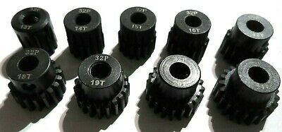 32P pitch 5mm Pinion Gears 11t, 13t, 16t, 18t, 21t various brands fits Brushless