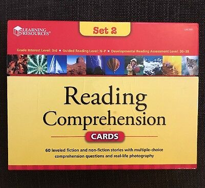 Learning Resources READING COMPREHENSION Cards Set 2 Complete w/ Teacher Guide