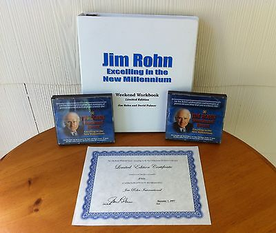 RARE! First Edition Excelling in the New Millennium DVD Set - Signed By Jim Rohn