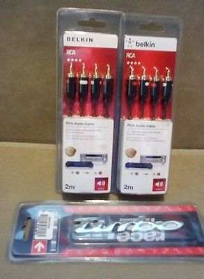 joblot rca audio cable x2, a turbo badge