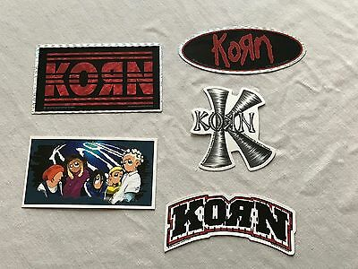 KORN Lot of 5  Vending Stickers RARE 1990's