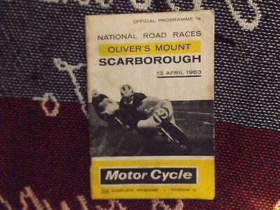 1963 Olivers Mount Motor Cycle Programme 13/4/63 - National Road Races